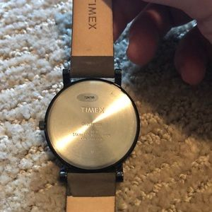 Accessories - Timex men's watch brown suede band lightly used